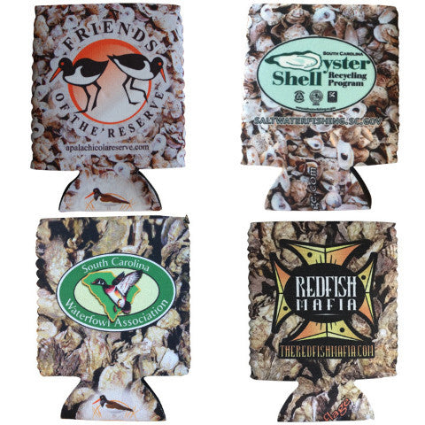 sc waterfowl association, score, redfish mafia koozies