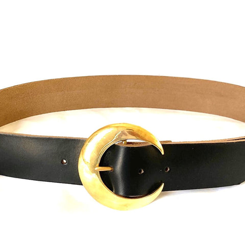 <!--BK005-->crescent moon buckle belt