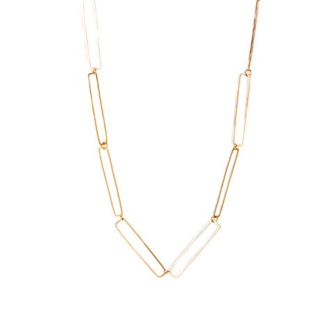 <!--NK885-->repeating rectangle chain necklace