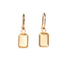 <!--ER793-->emerald cut gold jewel drop earrings