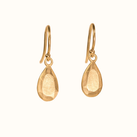 <!--ER797-->pear cut gold jewel drop earrings