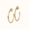 <!--ER791-->large perfectly round hoop stud earrings
