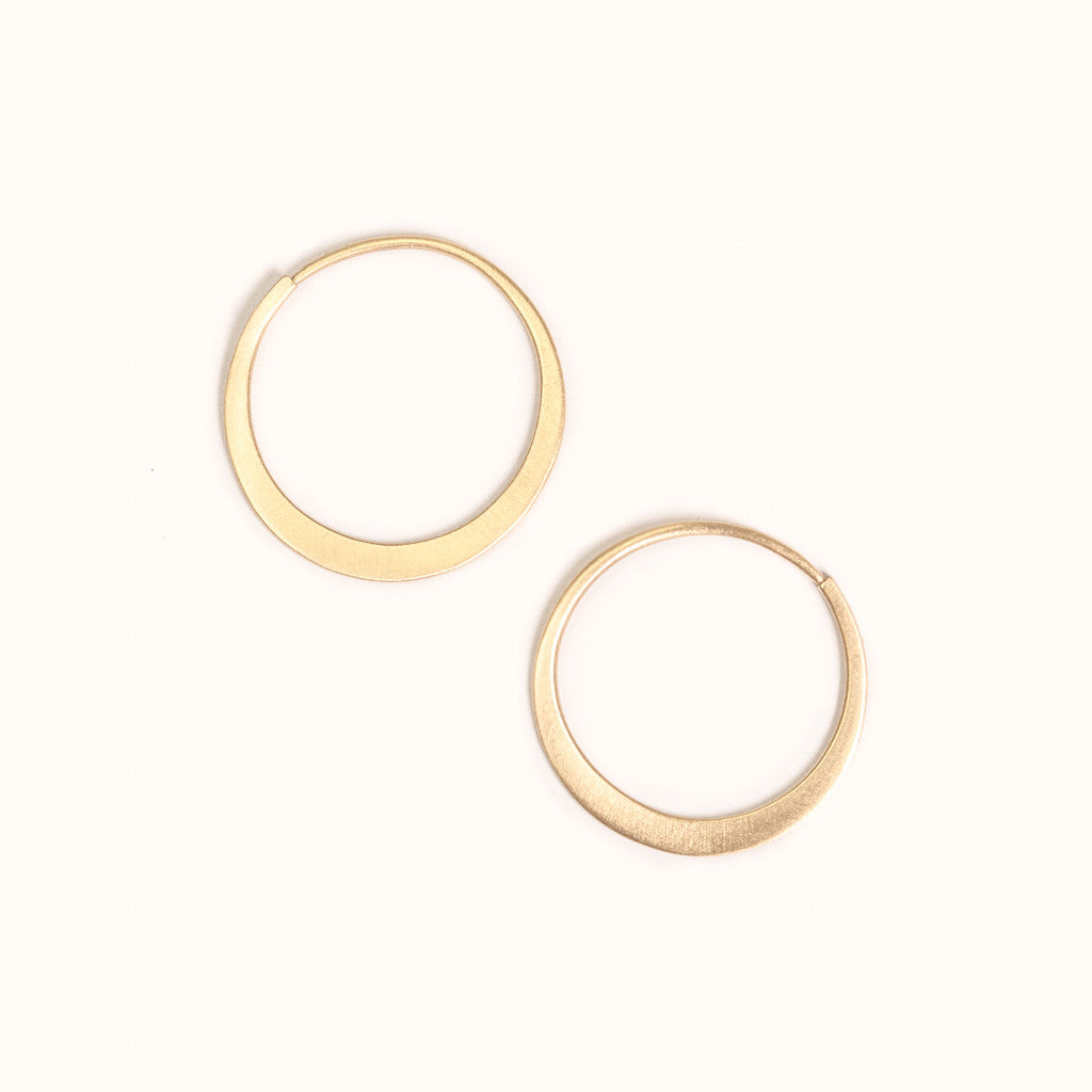 <!--ER765-->fertile moon hoop earrings