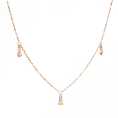 <!--NK861-->multi tassel necklace