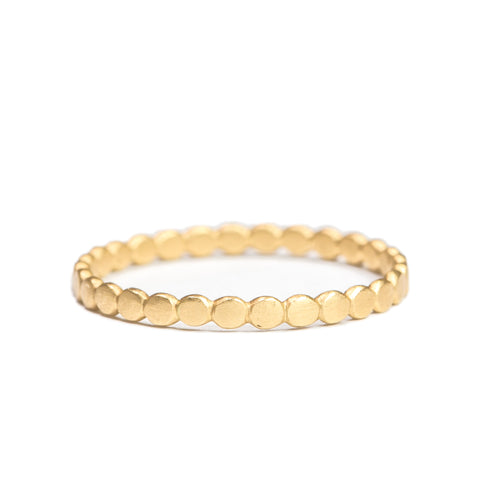 <!--RG385-->tiny polkadot stacking ring 14k