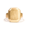 <!--RG711-->large emerald cut gold jewel ring