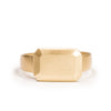 <!--RG710-->small emerald cut gold jewel ring