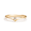 <!--RG437-->wishbone engagement ring with diamond