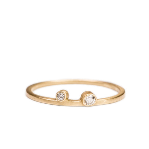 <!--RG442-->double diamond stacking ring