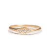 <!--RG554dia-->flat top ridge ring with diamonds
