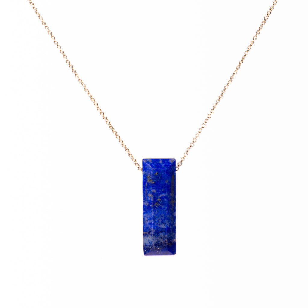 SALE - faceted lapis necklace