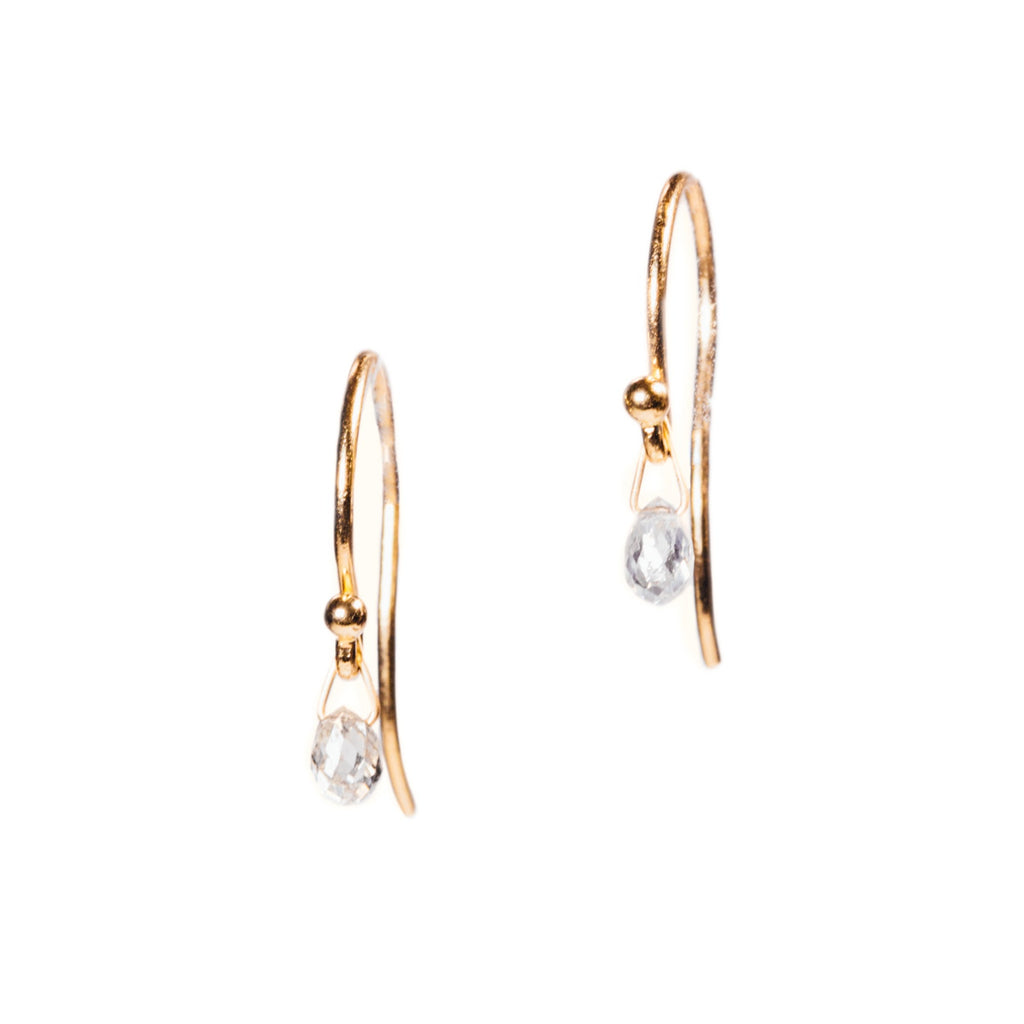 <!--ER812-->diamond briolette earrings