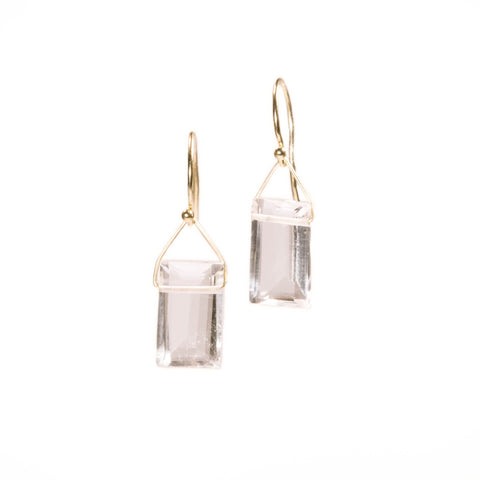<!--ER846-->faceted rock crystal earrings