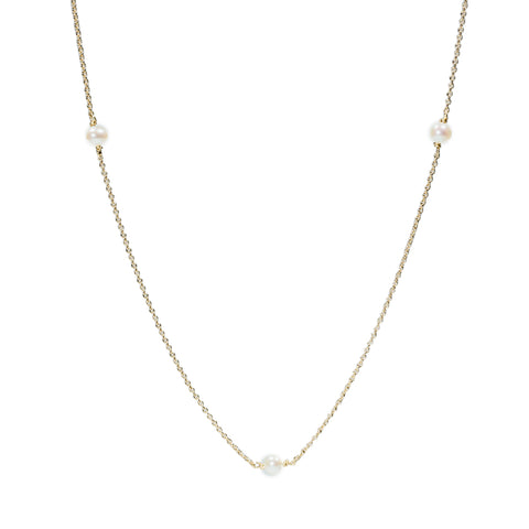 <!--NK730-->orbiting pearl necklace