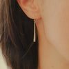 <!--ER805-->gold shard drop earrings