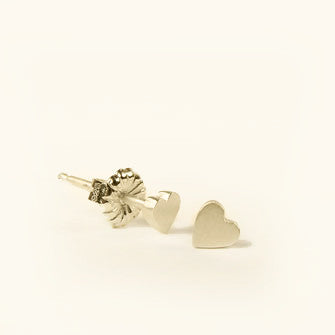heart button stud earrings