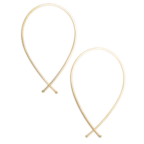 <!--ER609-->ribbon hoop earrings