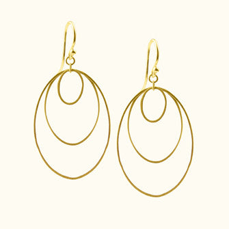 layered ellipse earrings