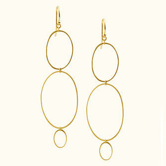 three ellipse earrings