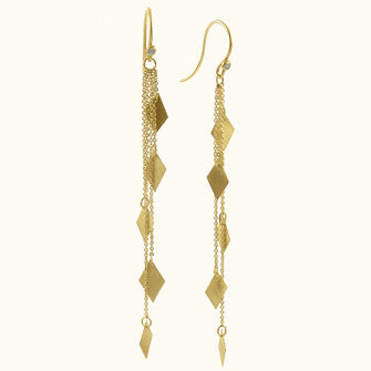 tina mega chain drop earrings