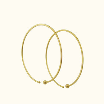 medium loop hoop earrings