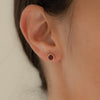 SALE - discus studs, red garnet