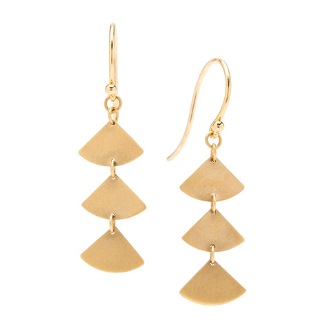 <!--ER905--> ginkgo bold simple drop earrings