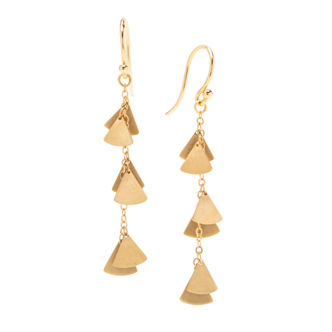 <!--ER908--> ginkgo lite cascade earrings