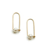 <!--ER925-->small pearl arch earrings