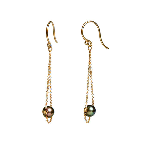 <!--ER936-->swinging pearl earrings
