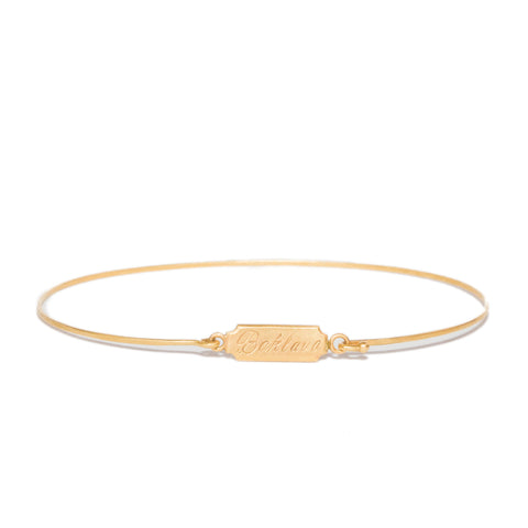 <!--BR480-->rectangle charm bangle bracelet