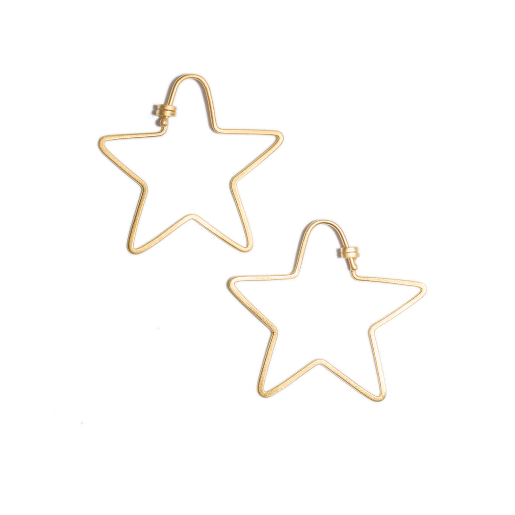 <!--ER850-->small star dainty hoops