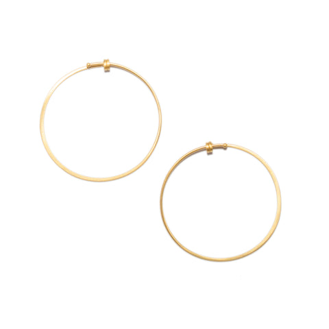 <!--ER610-->small round dainty hoop earrings