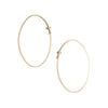 <!--ER614-->small oval dainty hoop earrings