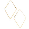 <!--ER619-->rhombus dainty hoop earrings