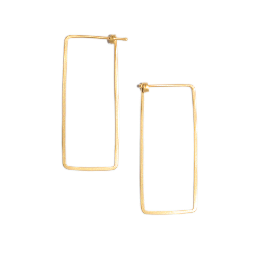 <!--ER780-->small rectangle dainty hoop earrings