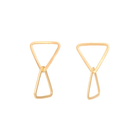 <!--ER815-->double triangle stud drops