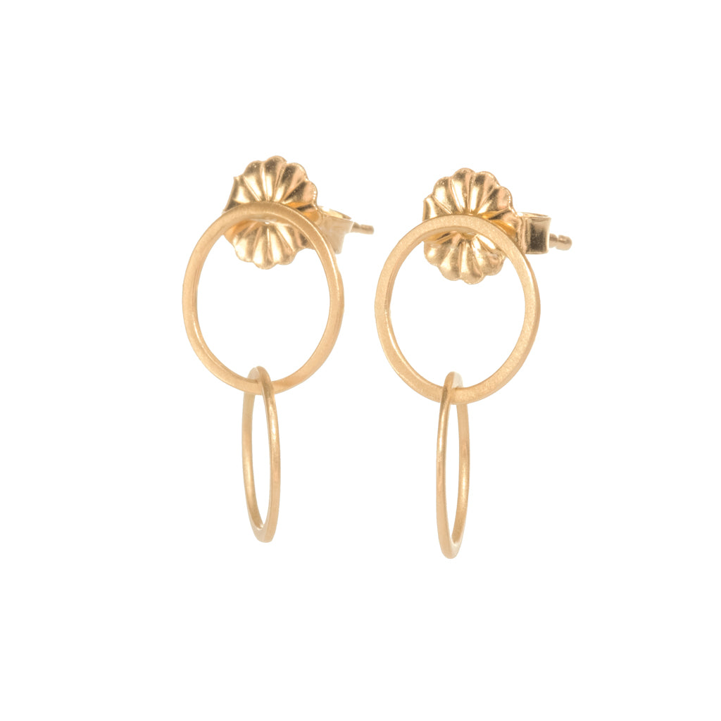<!--ER814-->double circle stud drops