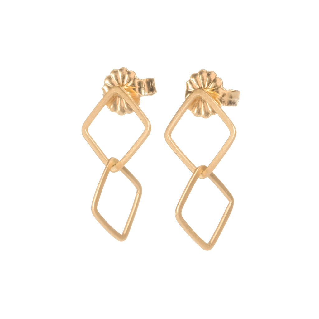 <!--ER816-->double square stud drops