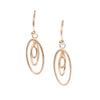 <!--ER876-->oval galaxy hanging earrings