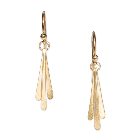 <!--ER624-->triple fringe drop earrings