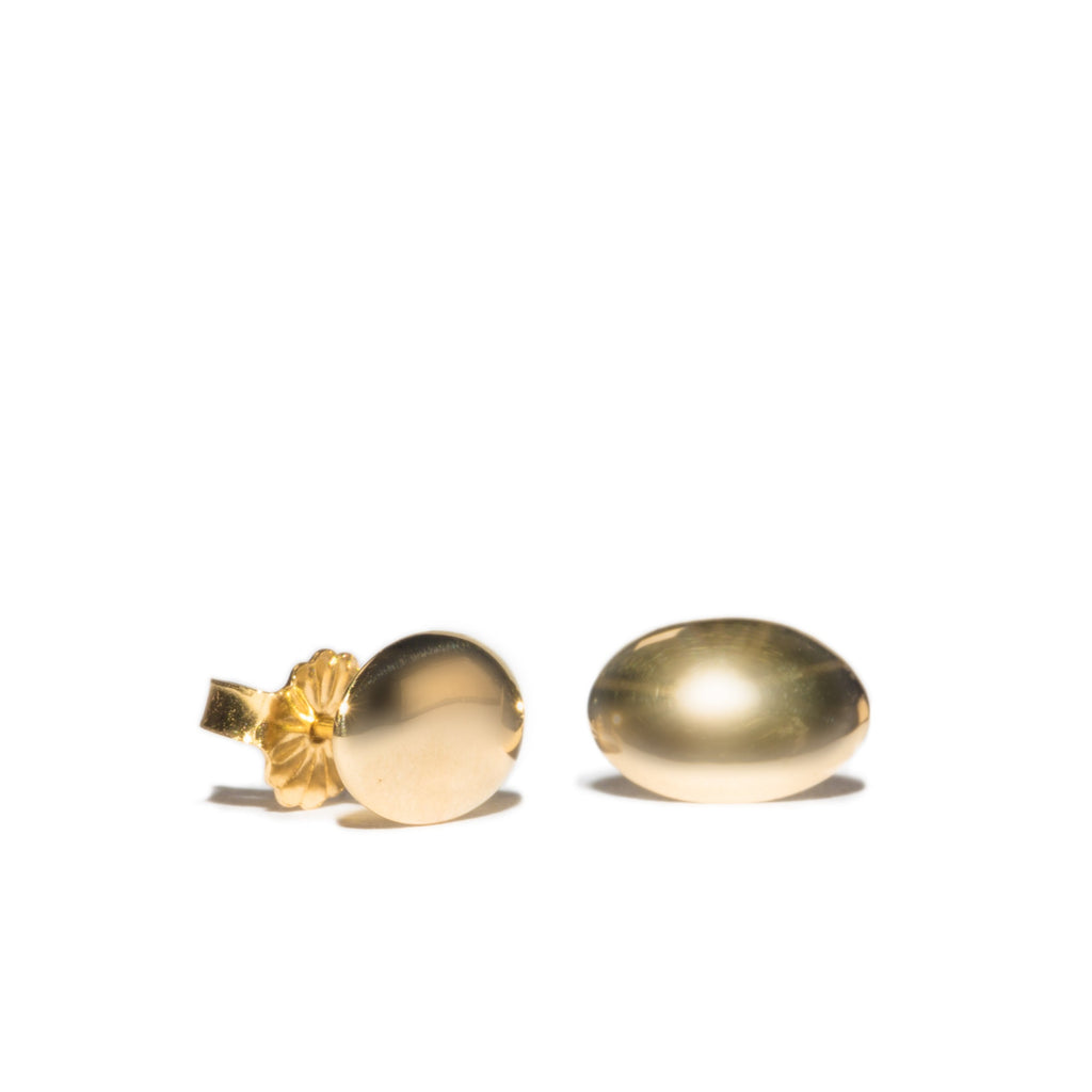 <!--ER889-->oval mirror stud earrings