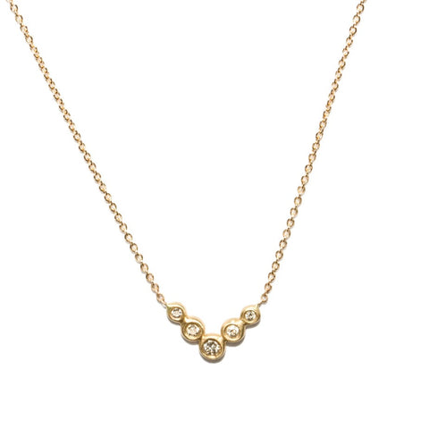 <!--NK866dia-->lovebird flock diamond necklace