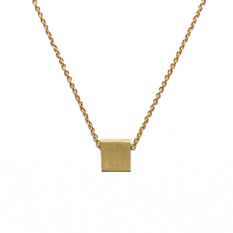 <!--NK167-->square button necklace