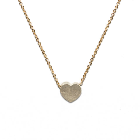 <!--NK168-->heart button necklace