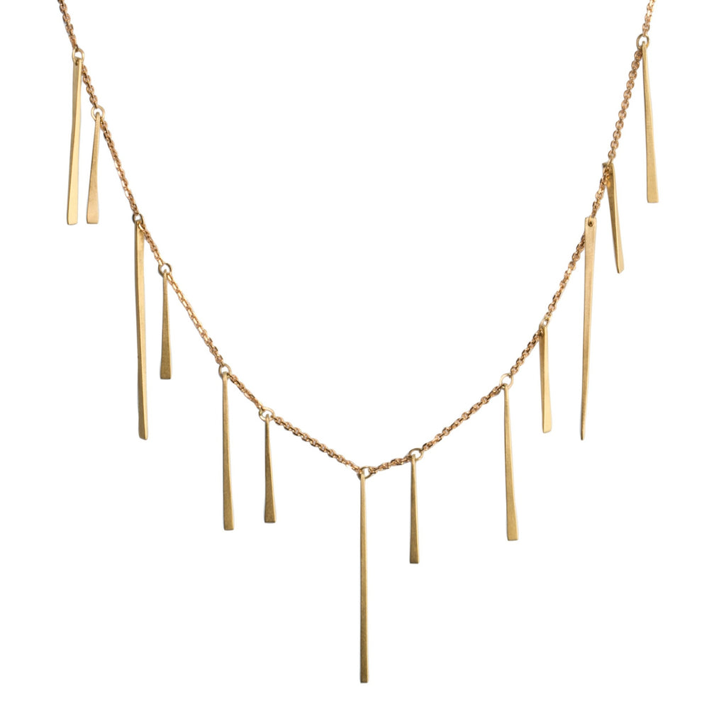 <!--NK906-->slinky gold shards deluxe necklace