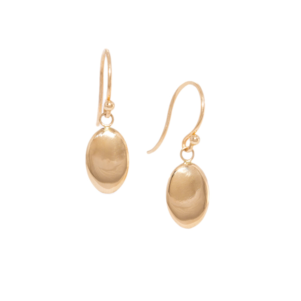 <!--ER890-->oval mirror drop earrings