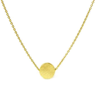 <!--NK171-->circle button necklace