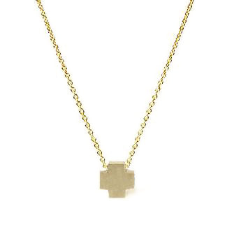 <!--NK172-->cross button necklace