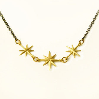 triple twinkle necklace